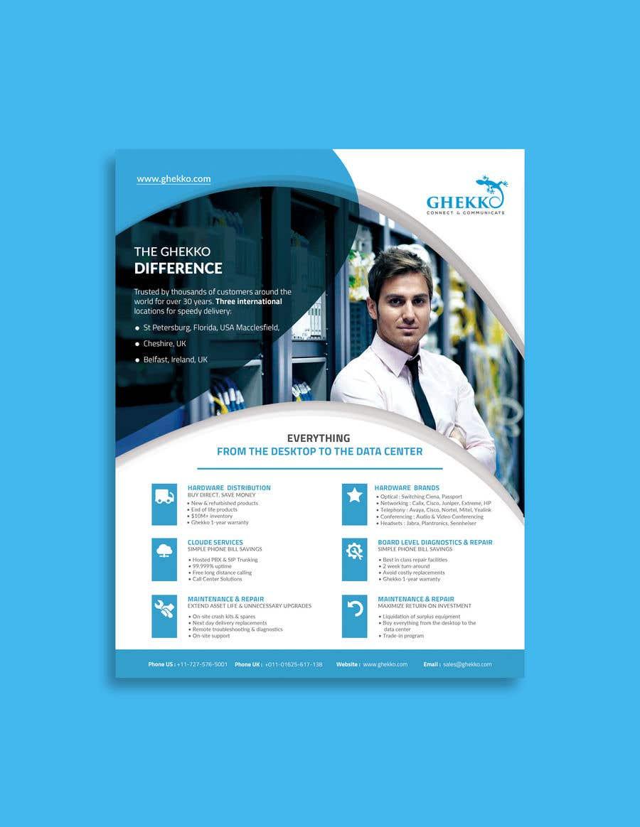 Inscrição nº 60 do Concurso para Design a one page sales brochure for Ghekko - a technology company