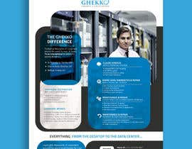 #63 per Design a one page sales brochure for Ghekko - a technology company da ahmedabdelrahim1