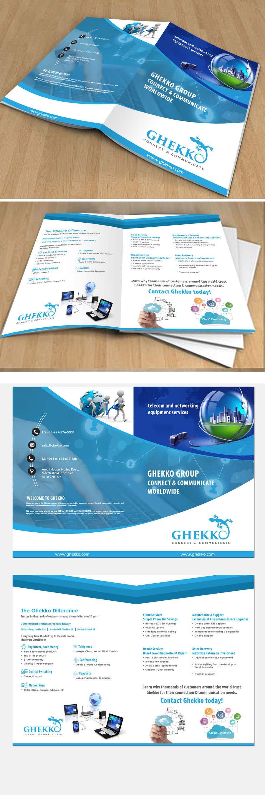Inscrição nº 56 do Concurso para Design a one page sales brochure for Ghekko - a technology company