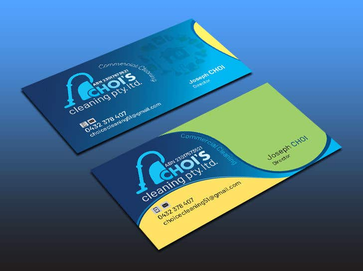 Contest Entry 269 For New Logo Business Card Design Cleaning Company