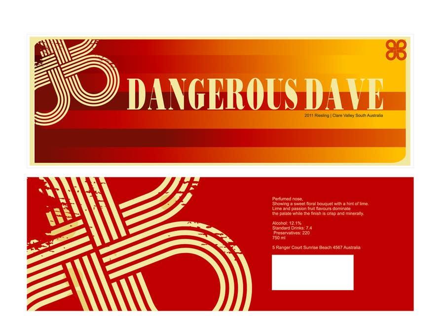 Konkurrenceindlæg #13 for Wine Label for Dangerous Dave