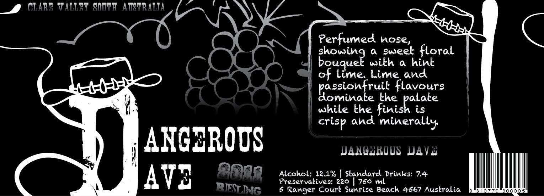 Konkurrenceindlæg #34 for Wine Label for Dangerous Dave