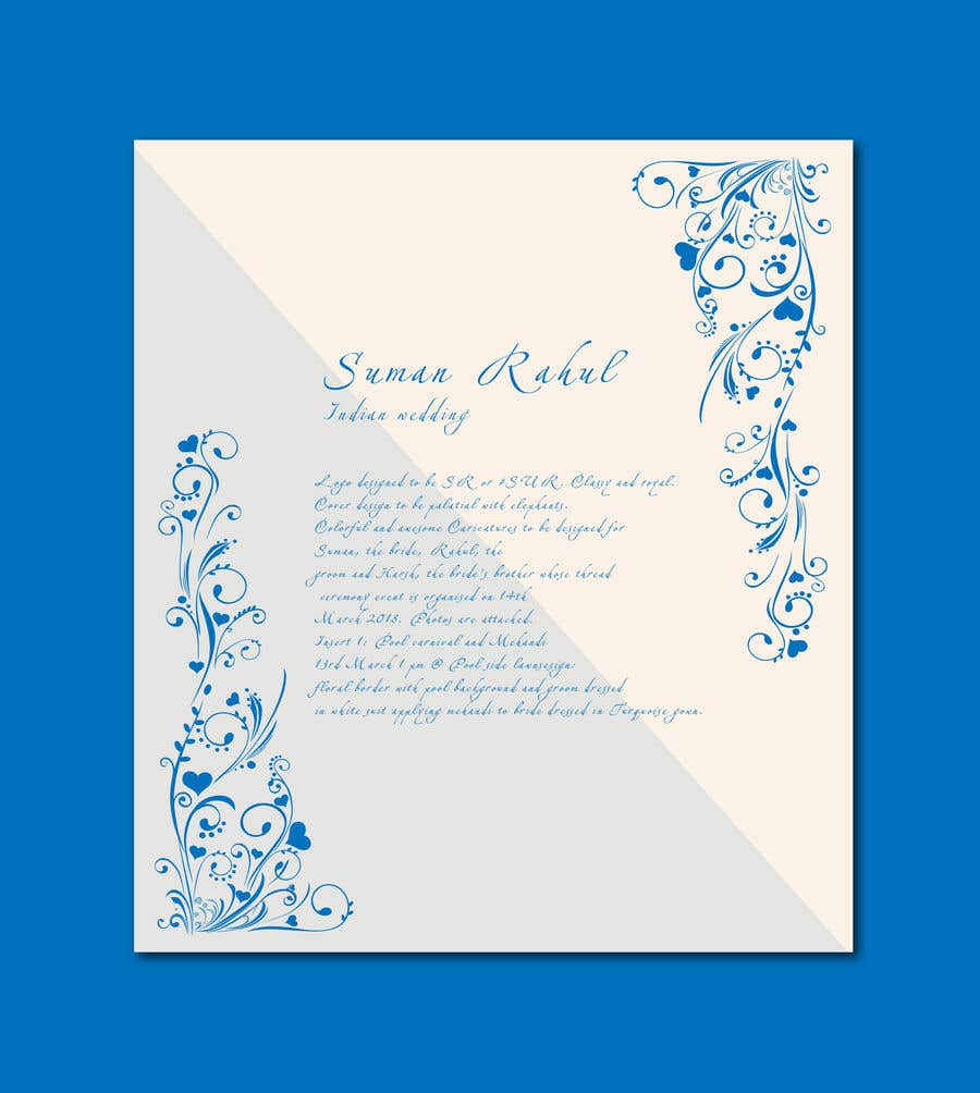 Entry 11 By Asik01711 For Suman Rahul Indian Wedding Invitation