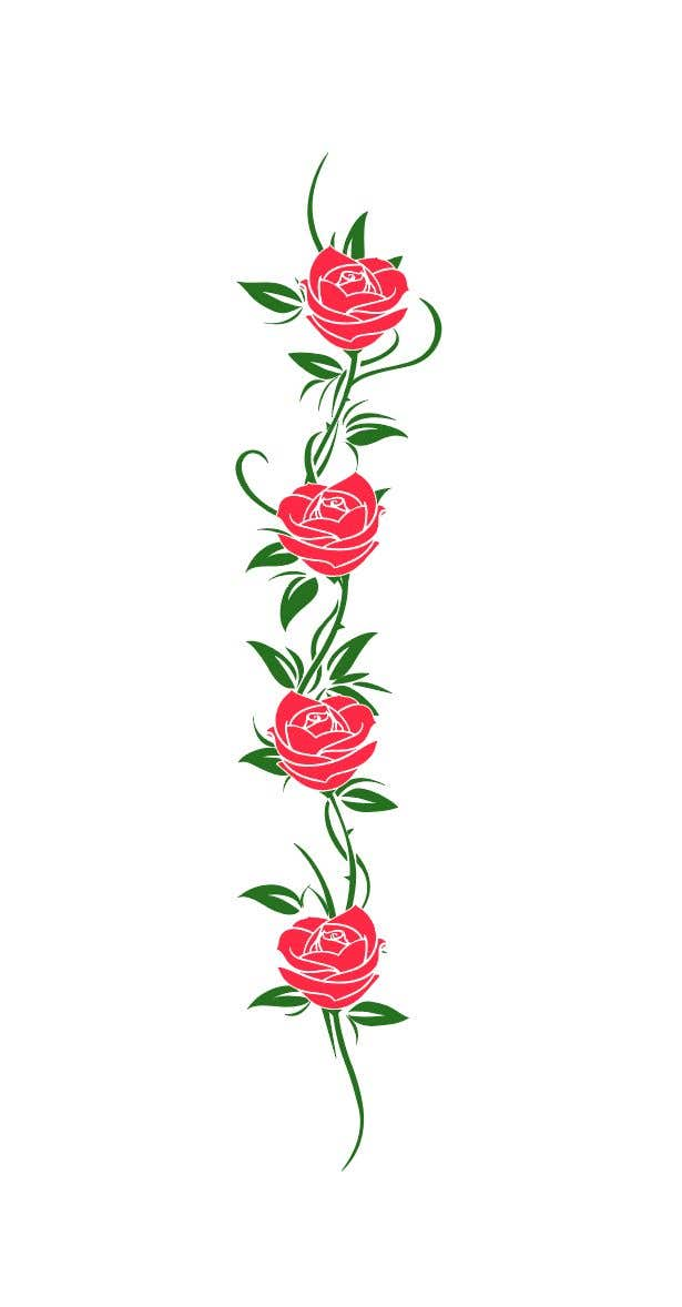 Entry 17 By Alisasongko For Red Roses On A Vine Illustration