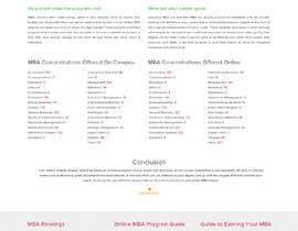 xprtdesigner tarafından Design One Page for MBA Site için no 17