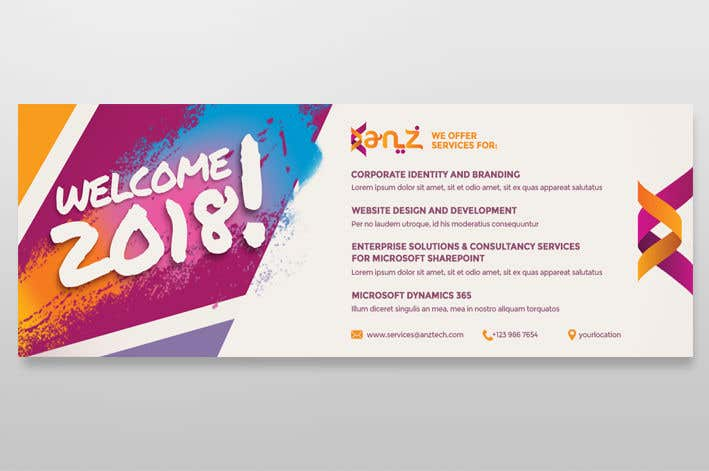 contest entry 67 for design new year banner illutrating services