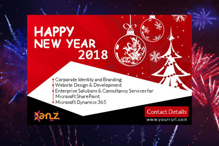 contest entry 6 for design new year banner illutrating services