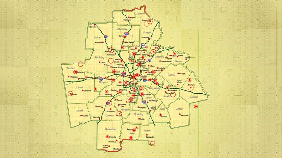 Entry 10 By Deeps831 For Animated Atlanta Metro Area Map Contest