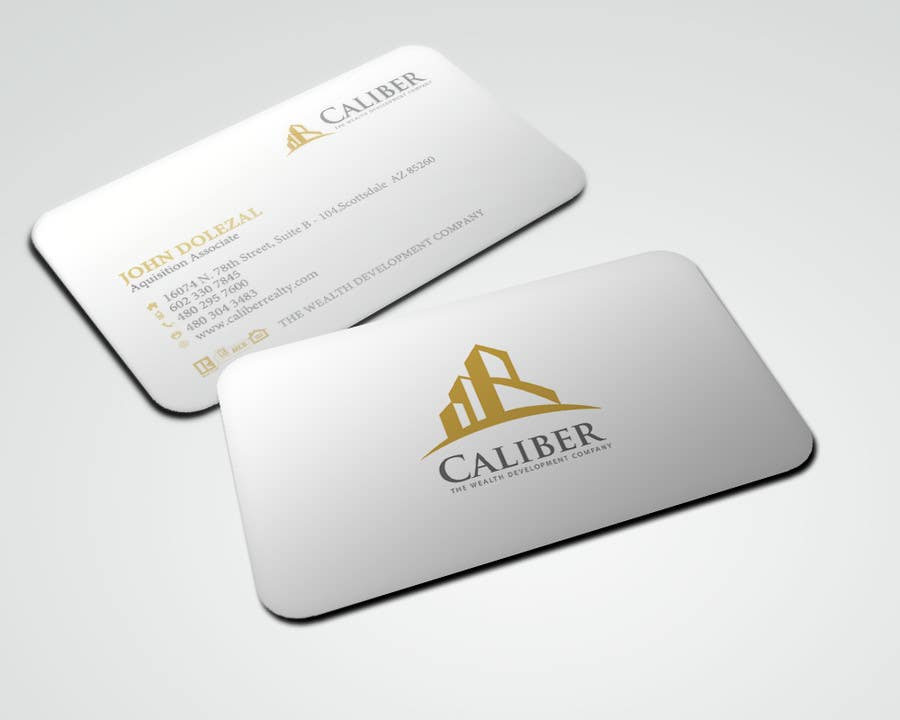 #38 for Business Card Design for Caliber - The Wealth Development Company by sarah07