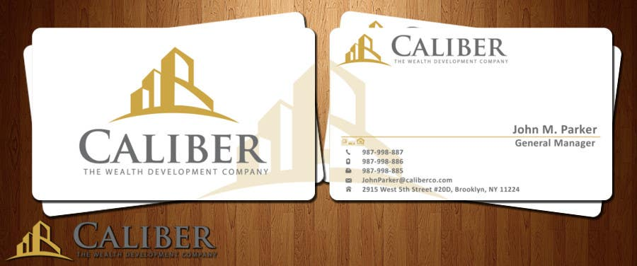#31 for Business Card Design for Caliber - The Wealth Development Company by syarah