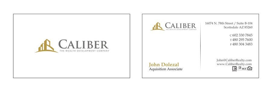 #2 for Business Card Design for Caliber - The Wealth Development Company by carlosoliveiras