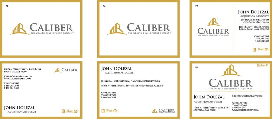 #20 for Business Card Design for Caliber - The Wealth Development Company by pranavhosangadi