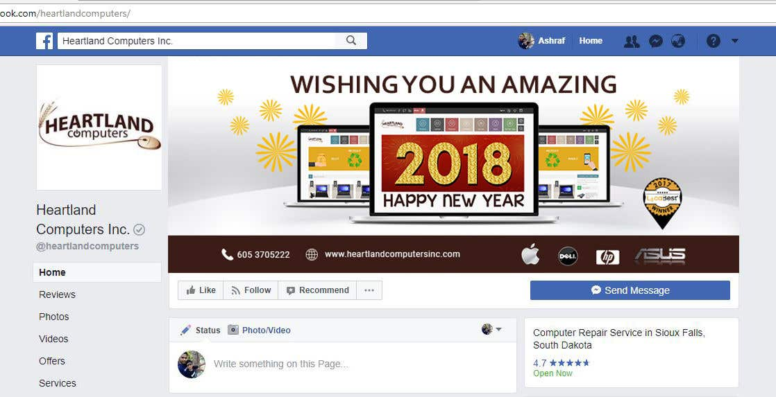 Contest Entry #69 for Design 2018 New Year Facebook Cover Page