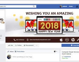 #72 for Design 2018 New Year Facebook Cover Page by siambd014