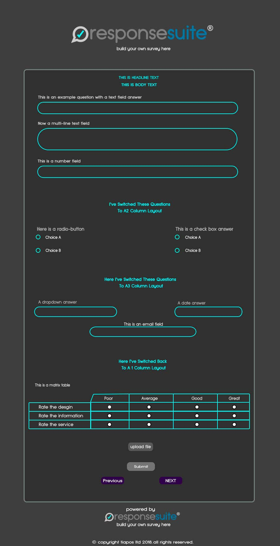 entry 51 by ahmedsid20172020 for design a survey mockup for