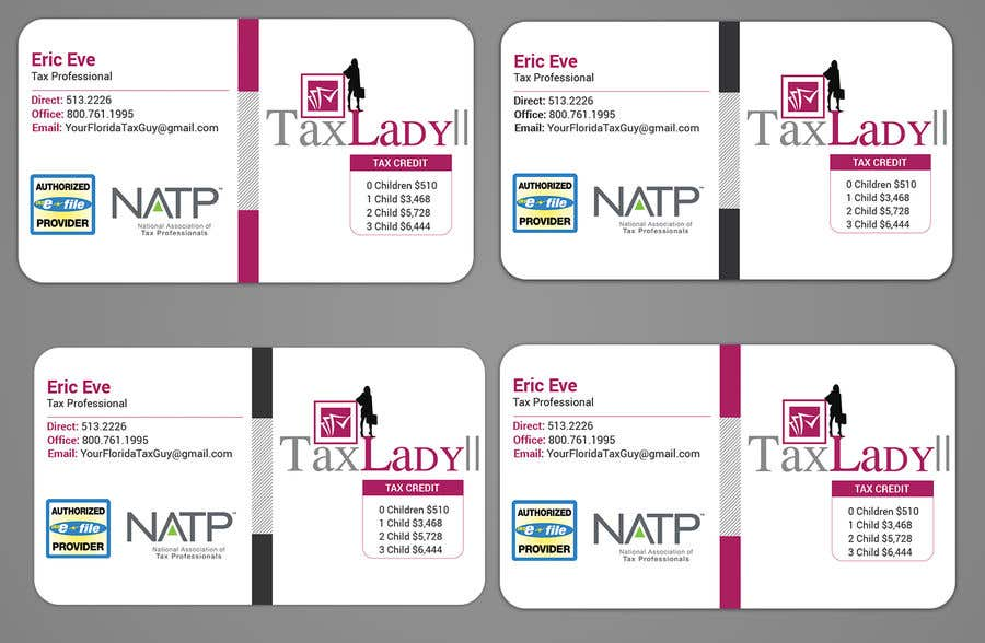 Entry #31 by itopup777 for Design some Tax Company Business Cards ...
