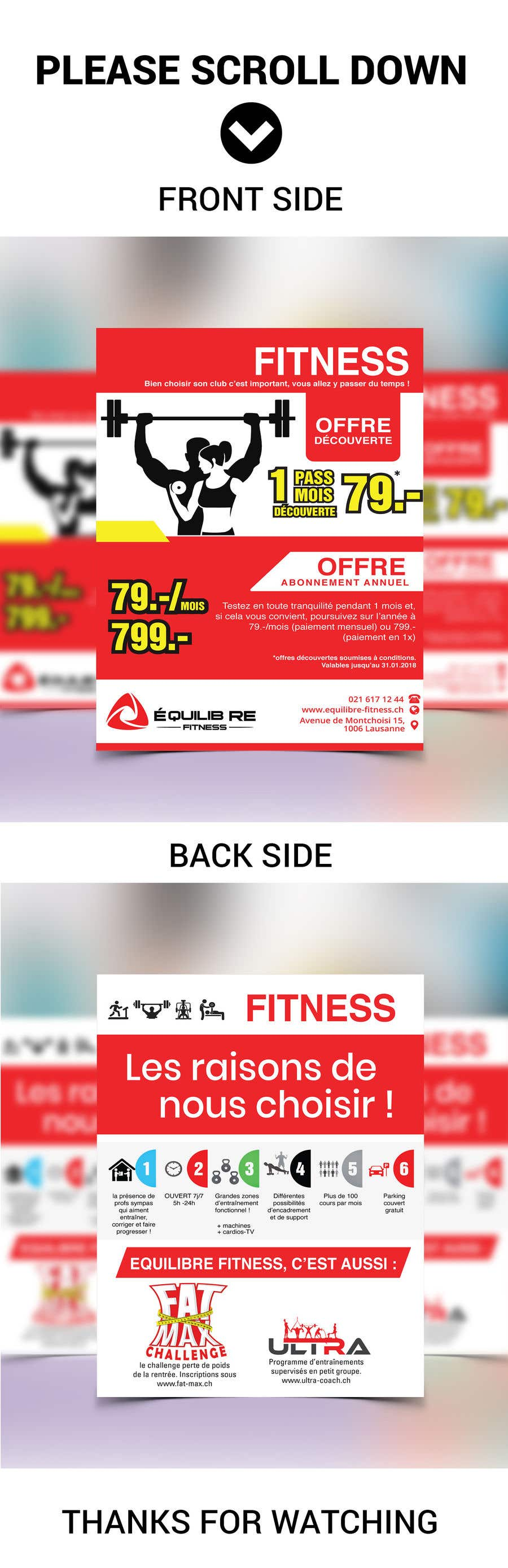 Contest Entry #95 for Design a Gym direct mail Flyer
