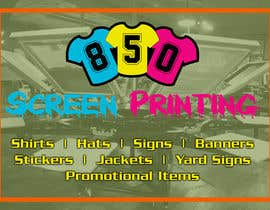 "Naseem065 tarafından Design a 5"" x 7"" mailer for screen printing shop için no 1"