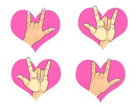 #34 for Heart & ILU Hand by victordrg