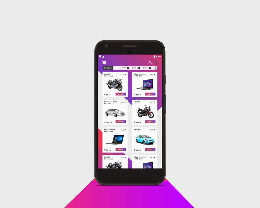 Great Android App Home Screen Design