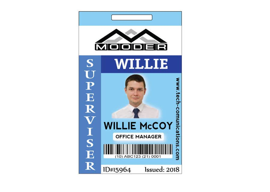 entry 4 by adnan20140 for design company id badges for employees
