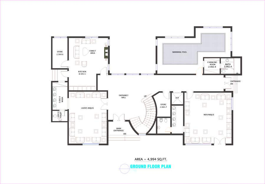 Entry #90 by OmarAbdalmajid for House and Landscaping ... on interior design board layout, interior design plan view, interior design flowchart, interior design block diagram,