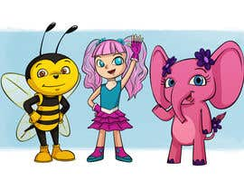 Nro 9 kilpailuun CUTE 2D Character Design of a girl, elephant and bee! (2D ONLY, FULL COLOR, CARTOON) käyttäjältä vijayrai1989