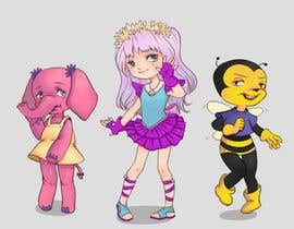 Nro 2 kilpailuun CUTE 2D Character Design of a girl, elephant and bee! (2D ONLY, FULL COLOR, CARTOON) käyttäjältä suuijin