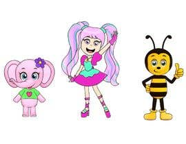 Nro 11 kilpailuun CUTE 2D Character Design of a girl, elephant and bee! (2D ONLY, FULL COLOR, CARTOON) käyttäjältä andrenakao