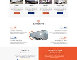 #48 for Design homepage for website trailer dealer by ByteZappers