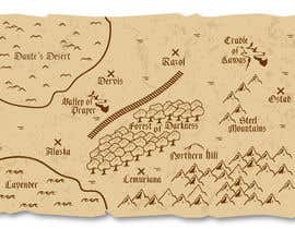 Nro 2 kilpailuun Illustrate Something - a map of a location similar to game of thrones and lord of the rings based on the sample file sent. käyttäjältä ciprilisticus