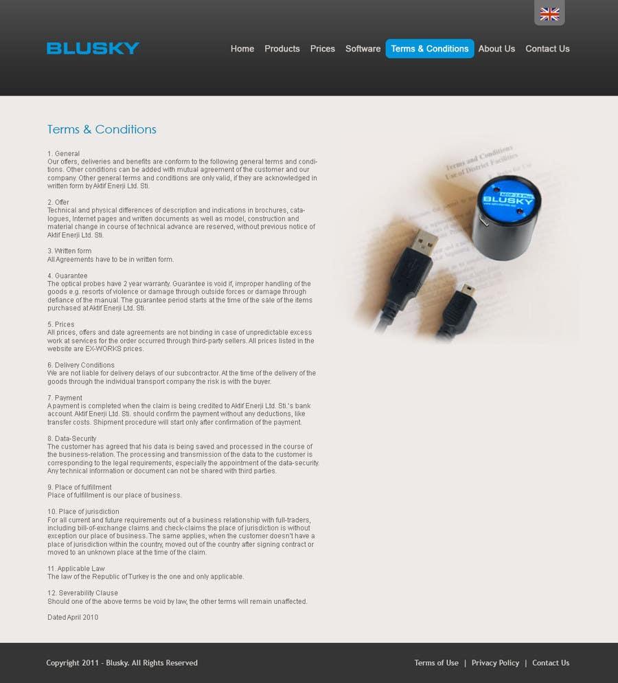 Конкурсная заявка №52 для Website Design for BLUSKY optical probes