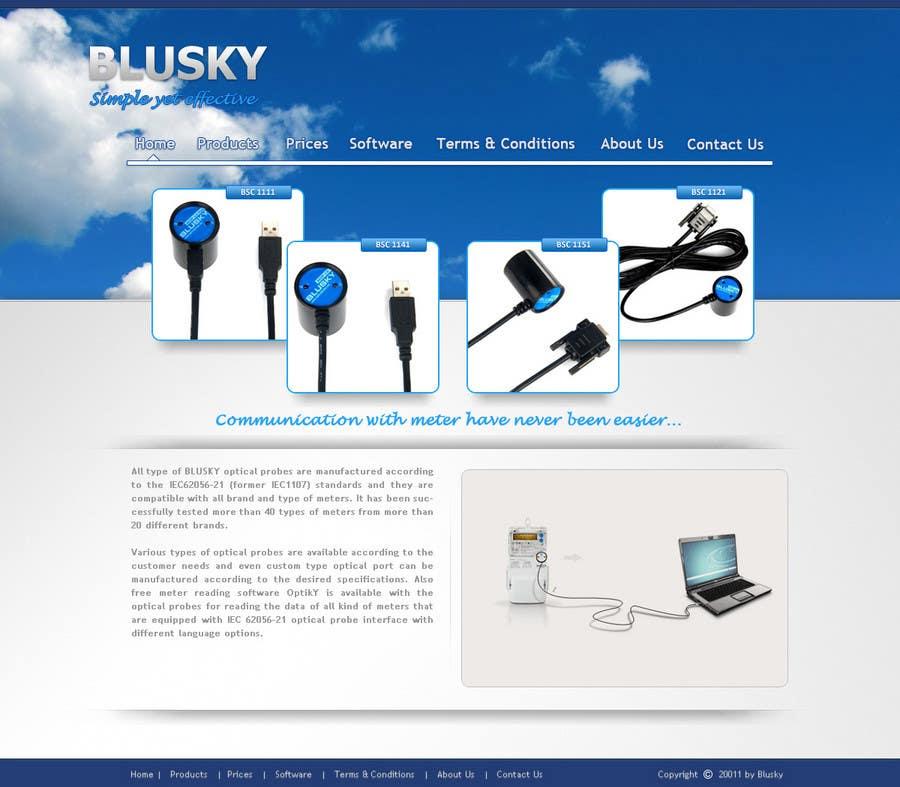 Конкурсная заявка №83 для Website Design for BLUSKY optical probes
