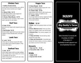 #6 για Need a restaurant menu takeout style. Tri-fold black and white. από mukta965