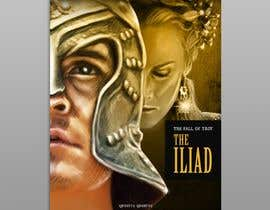 "#111 for Illustration of cover page for a Greek Mythology e-book entitled ""The Iliad"" with provisional subtitle ""The fall of Troy"" by adalbertoperez"