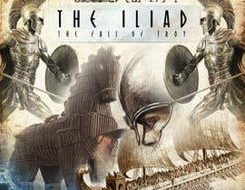 "#108 for Illustration of cover page for a Greek Mythology e-book entitled ""The Iliad"" with provisional subtitle ""The fall of Troy"" by johny179"