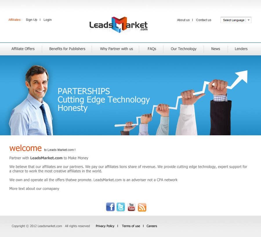 Inscrição nº                                         18                                      do Concurso para                                         Website Design for LeadsMarket.com