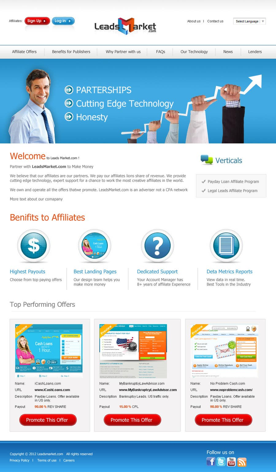 #49 for Website Design for LeadsMarket.com by cromasolutions