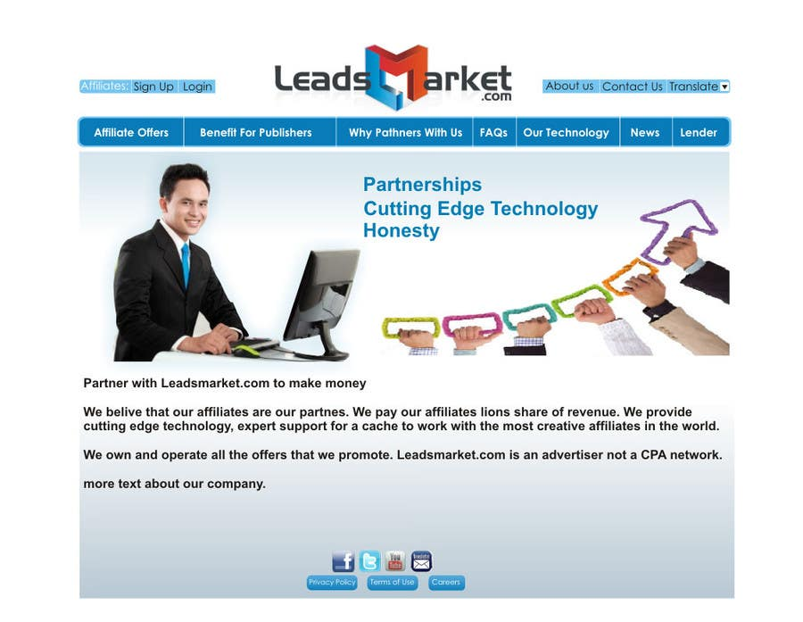 #64 for Website Design for LeadsMarket.com by ezra66