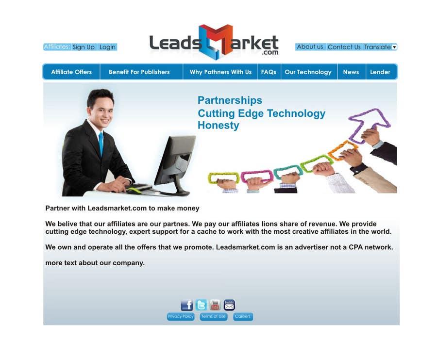 #64 for Website Design for LeadsMarket.com by ezra66