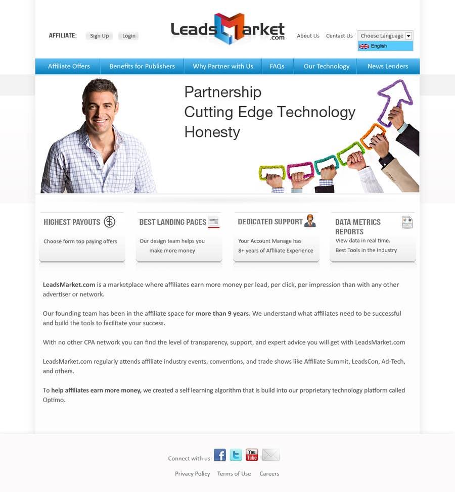 Konkurrenceindlæg #                                        41                                      for                                         Website Design for LeadsMarket.com