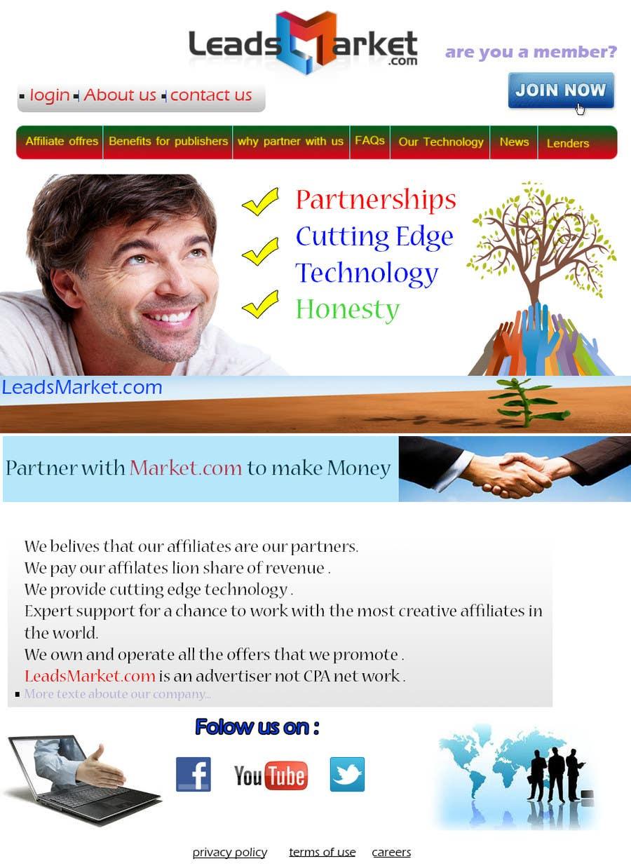 Inscrição nº                                         12                                      do Concurso para                                         Website Design for LeadsMarket.com