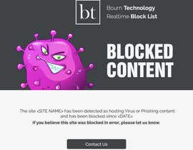 #16 untuk Single Page website, landing page for blocked internet content oleh xsodia