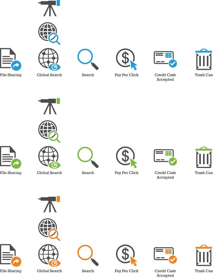 Inscrição nº                                         15                                      do Concurso para                                         Web and Online Marketing Icon Design Set