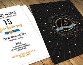 Nro 9 kilpailuun Nova 15th Anniversary Invite käyttäjältä adesign060208