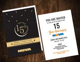 Nro 17 kilpailuun Nova 15th Anniversary Invite käyttäjältä adesign060208