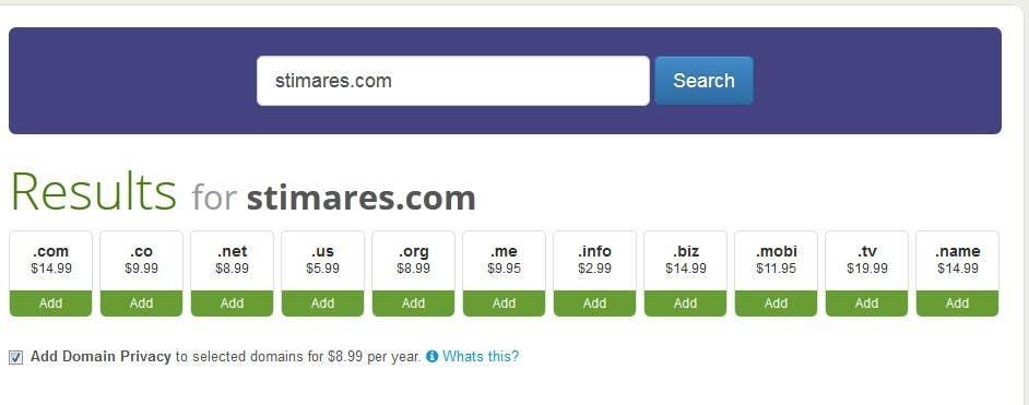 Penyertaan Peraduan #                                        50                                      untuk                                         Finding the best domain name available
