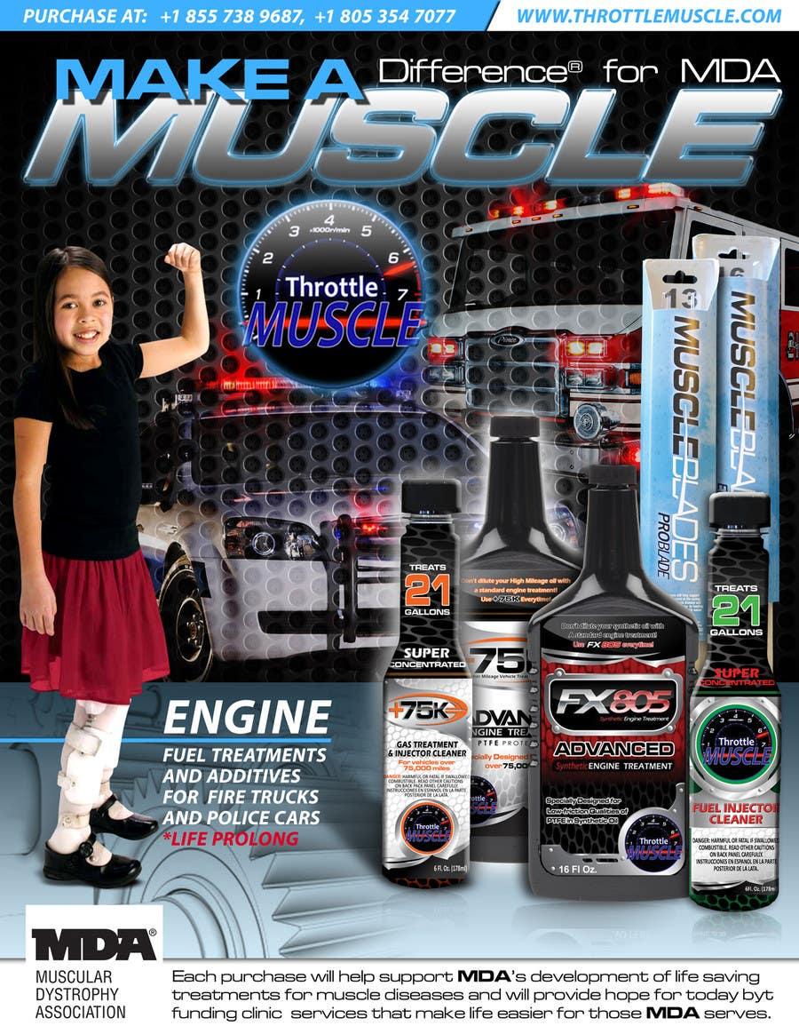 Penyertaan Peraduan #                                        50                                      untuk                                         Advertisement Design for Throttle Muscle