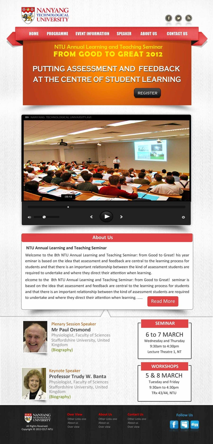 """#51 for Website Design for Seminar: """"Putting Assessment and Feedback at the Center of Student Learning"""" by logitac"""