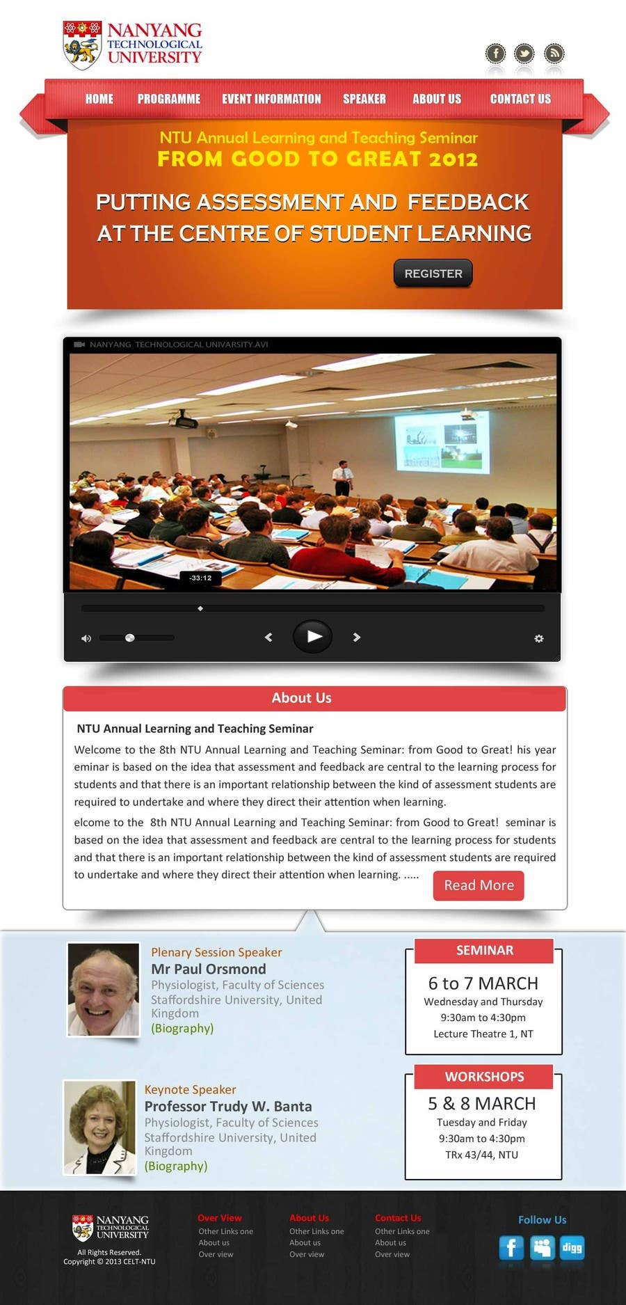 """#53 for Website Design for Seminar: """"Putting Assessment and Feedback at the Center of Student Learning"""" by logitac"""